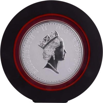 Siri Creations 999 Pure Silver Queen Elizabeth .Ii With Acralyic Frame Showpiece  -  19.5 cm