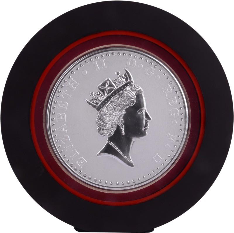 Siri Creations 999 Pure Silver Queen Elizabeth .Ii With Acralyic Frame Showpiece  -  19.5 cm(Silver, Silver)
