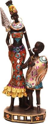 Oyedeal African Tribal Mother and Child GFT392 Showpiece  -  21.5 cm
