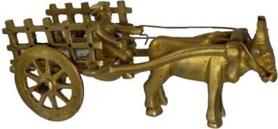 Inspiration World Vintage Brass Mini Cart Showpiece  -  15 cm