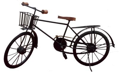 Divinecrafts Metal Bicycle With Front Basket Showpiece  -  27 cm