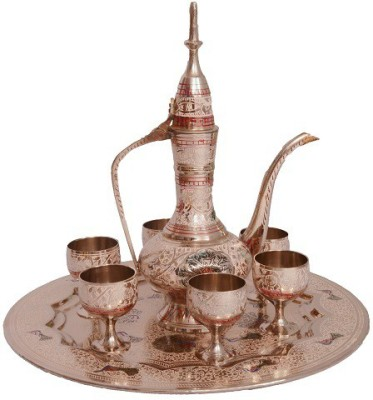 Sunvi Rajasthani Meenakaari Wine Set Showpiece - 22 cm