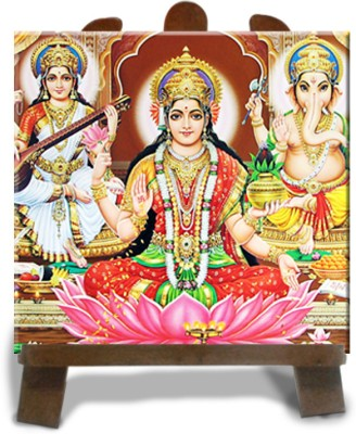 Tiedribbons Laxmi And Ganesh Sublimation Tile Showpiece  -  12 cm(Ceramic, Multicolor)