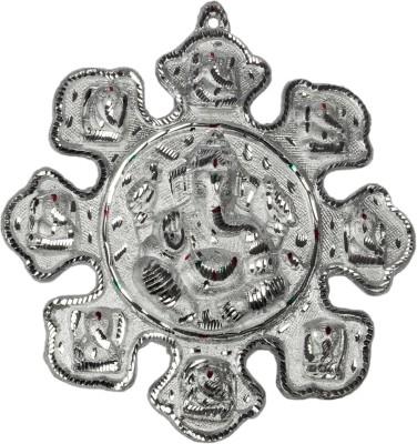 Mangal White Metal Asta Ganesh Medium 12k Showpiece  -  30 cm