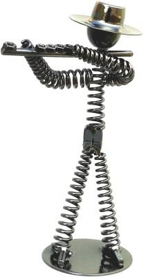 Gooddeals Nut bolt spring musician metal sculpture Flutist Showpiece  -  19 cm