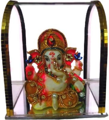 Divine Temples Ganesha statue - (10.5 cm) Showpiece  -  10.5 cm(Plastic, Multicolor)
