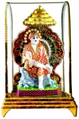 Shree Krishna Handicrafts And Gallery Sai Baba Intouch Cabinet Showpiece  -  26 cm