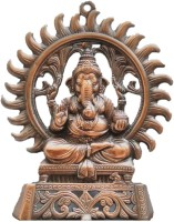 JaipurCrafts Matel Wall Hanging Of Lord Ganesha Showpiece  -  24.13 cm(Aluminium, Brown)