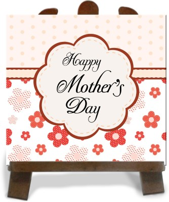 Tiedribbons Hapy Mother,S Day Tile Showpiece  -  28 cm(Ceramic, Multicolor)