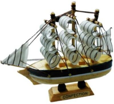 Gooddeals Mm68 Wooden Naval Sailing Ship Miniature Small Size Showpiece  -  15 cm