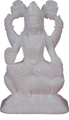 Kaushal Creation White Marble Laxmi Statue Showpiece  -  8 cm