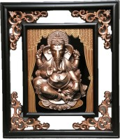 JaipurCrafts Lord Ganesha Mehrab Photo Frame Showpiece  -  38 cm(Plastic, Brown, Gold)