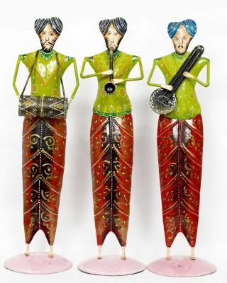 KHUSHI HANDICRAFTS 3 MUSICAL PUNJABI MEN Showpiece  -  46 cm