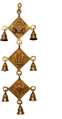 Aakrati Shankh Chakra Namah Hanging Bell Showpiece - 45 cm(Brass, Yellow)
