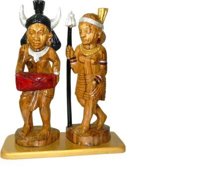 MadeInIndiaGallery Couple Dancing Showpiece  -  36 cm(Wooden, Multicolor)