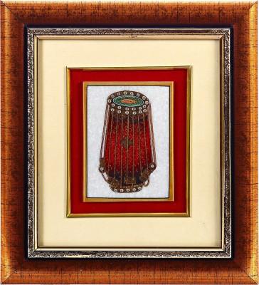 Aapno Rajasthan Dholak Design Showpiece  -  22 cm