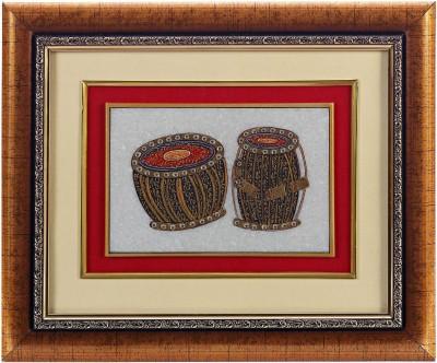 Aapno Rajasthan Tabla Motif Showpiece  -  28 cm