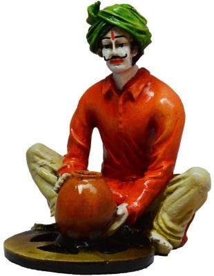 eCraftIndia Rajasthani Craftmen Statue making Pot Showpiece  -  15.24 cm