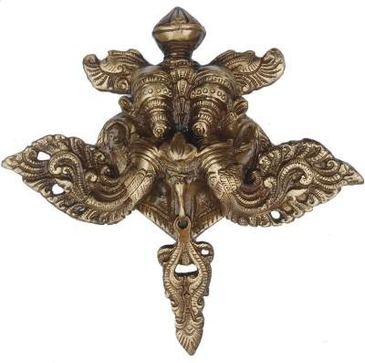 Aakrati Yali Face Showpiece  -  2 cm(Brass, Gold)