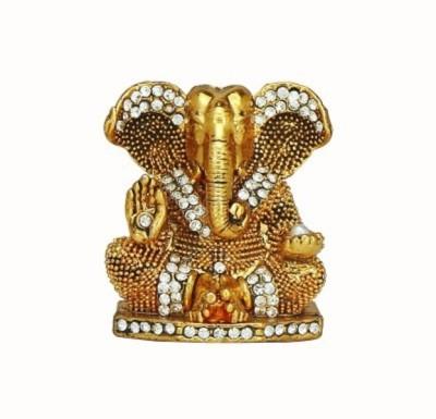 Divyas Golden Plated Ganesh Showpiece  -  7 cm
