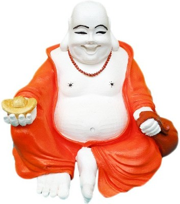 Fancy Interio Seated Laughing Maitreya Buddha Showpiece  -  10 cm