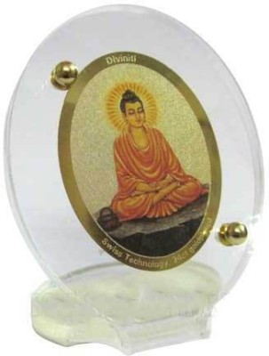 Sitare Lord Buddha Swizz made 24 kt Gold Foil Showpiece  -  6.5 cm