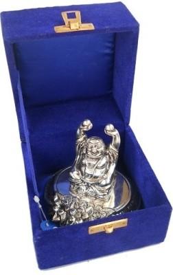 Metallic Kreationz Laughing Buddha Showpiece  -  10.5 cm