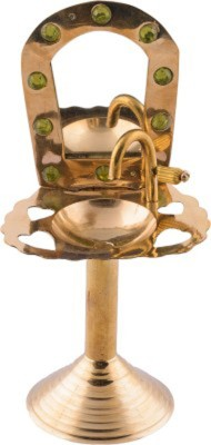 Homedesires Showpiece  -  17 cm(Brass, Gold)