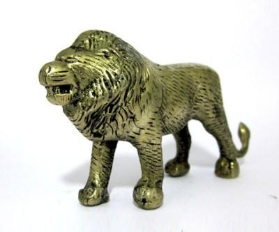 Sitare Unique Lion Panchdhatu Showpiece  -  5.0 cm