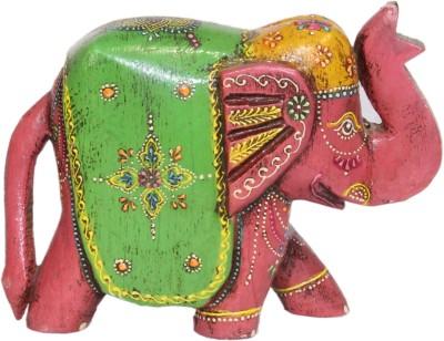Raga Arts Pink Elephant Showpiece  -  15 cm