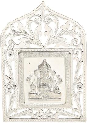 Osasbazaar BIS Hallmarked 925 Sterling Silver Ganesh Idol Showpiece  -  7.5 cm