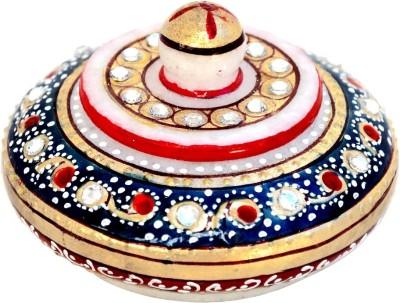 Handicrafts Paradise Meena Work Sindoor Dani Showpiece  -  5 cm
