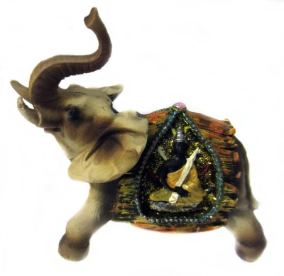 Giftwell elephant buddha Showpiece  -  12 cm