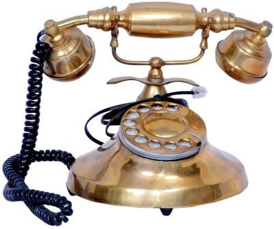 Craft Echo Brass Antique Telephone Showpiece  -  8 cm