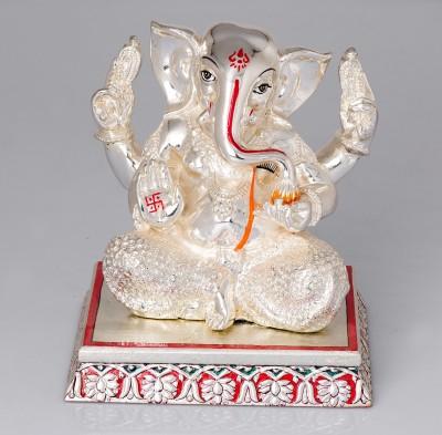 Urja Utsav pure 999 Silver Ganesha Showpiece  -  16 cm(Silver, Silver)