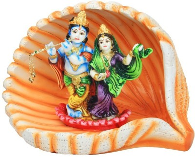 Adaa Poly-Resin Radha & Krishna in a Seashell design Showpiece  -  21 cm