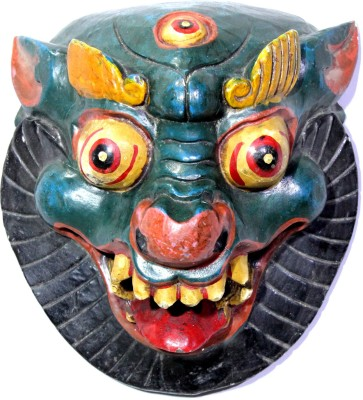 Raja Arts Decorative Evil Sign Tribal Mask Showpiece  -  36 cm