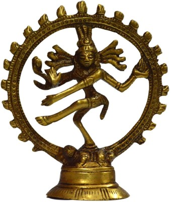 Traditional Rajasthan God Shiva Natraj Showpiece  -  9 cm