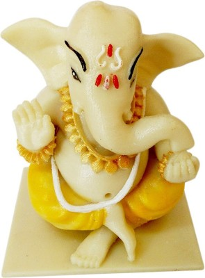 Fancy Interio Glow In Dark Ganesha Showpiece  -  8 cm
