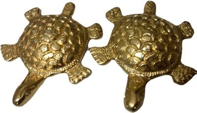 SI Diesel Si diesel brass idol Gift-Tortoise W/Vastu Dosh Nivaran Set of 2 pcs Showpiece  -  1.5 cm