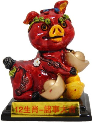 Divya Mantra Feng Shui Cat for goodluck Showpiece  -  8 cm