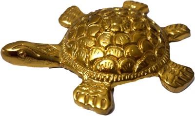 SI Diesel Si diesel brass idol Gift-Golden Tortoise W/Vastu Dosh Nivaran Showpiece  -  1.5 cm