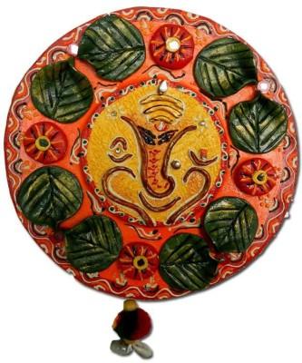 Anant Vighnaharta Ganesha Wall Hanging Showpiece  -  8 cm
