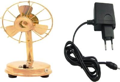 Unique Design Brass Fan With Adapater Showpiece  -  20 cm