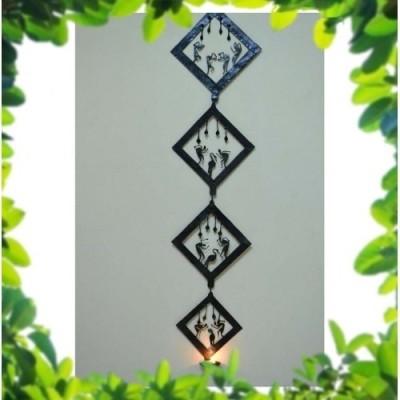 Chinhhari Arts Showpiece  -  27 cm(Iron, Black)
