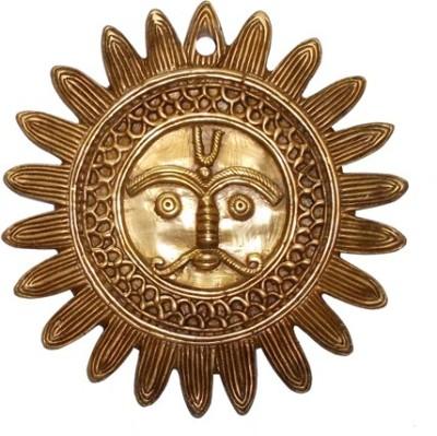 Radhika's World of Crafts Sun Wall Plate Showpiece  -  14 cm