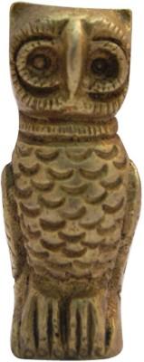 Divya Mantra Brass Owl Statue Showpiece  -  5 cm