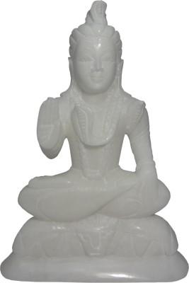 Avinash Handicrafts White Stone Shiva 16.5 cm Showpiece  -  16.5 cm