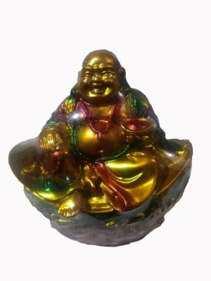 SportsHouse Laughing Buddha Showpiece  -  11 cm