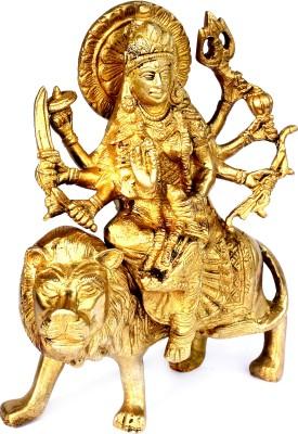 SKM Brass Idol Durga ji Spl 5 Showpiece  -  20.32 cm